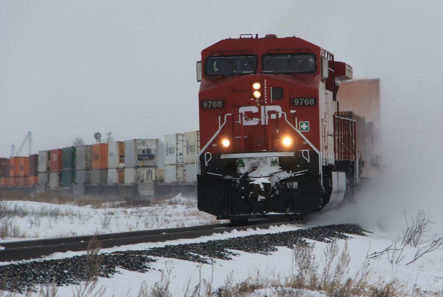 CP train in winter