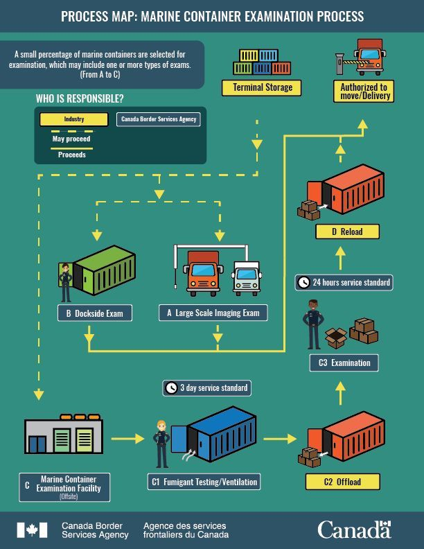 marine container examination process